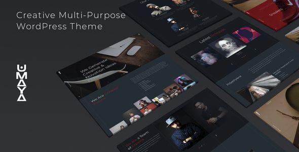 Umaya Creative Portfolio Agency Wordpress Theme In 2021 Creative Portfolio Wordpress Theme Creative Agency