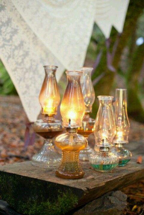 beautiful oil lamps