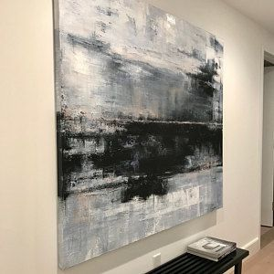 Large Abstract Painting On Canvas Abstract Painting Gray Etsy Oil Painting Abstract Abstract Painting Large Canvas Art