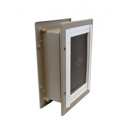 Aluminum Pet Door Frame Entry Small Dog Cat up to 12lbs PetSafe Double Flap S  #Petsafe
