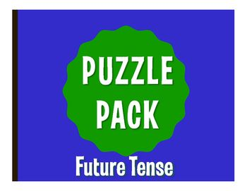 Puzzle packs are a fun, no prep way to review!  With a variety of puzzles, you can allow students to differentiate by learning style or difficulty level.  They also make great sub plans  the whole packet can easily fill an hour!  All puzzles have been solved and checked and answer keys are included.This puzzle pack includes:1 word search with conjugation clues1 crossword1 jumble3 sentence scrambles2 challenge puzzlesThis activity reviews Spanish future tense conjugation - regular and…