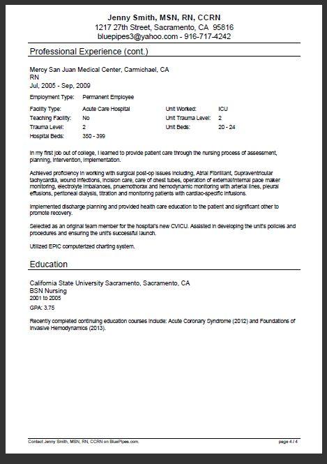 medical doctor resume example sample pinterest care nurse resume resumecompanion com resume ideasresume examplesresume