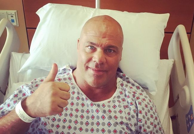 Kurt Angle's Surgery To Remove A Neck Tumor Was A Success