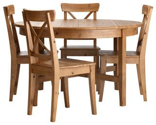 LEKSVIK/INGOLF Table and 4 chairs - modern - dining tables - by IKEA