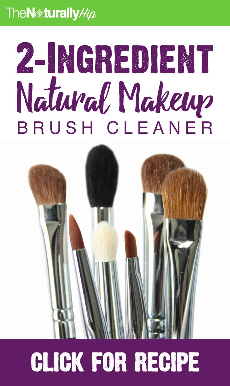 DIY 2-Ingredient Natural Makeup Brush Cleaner | This is the BEST way to clean your makeup brushes!