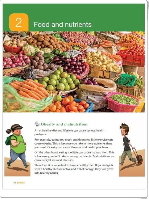 """Unidad 2 de Natural Science de 3º de Primaria: """"Food and nutrients"""""""
