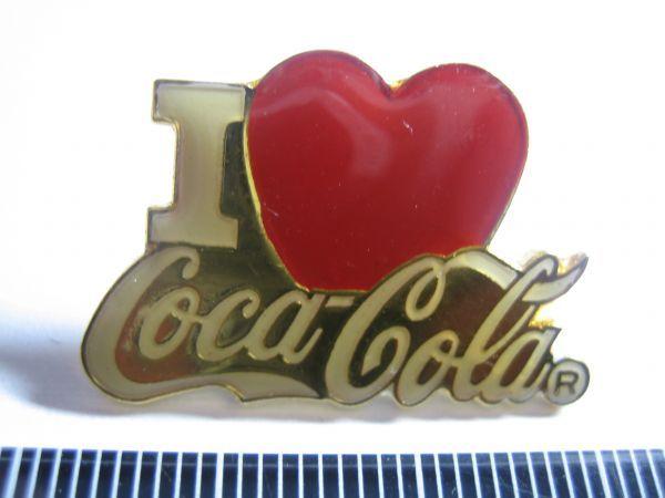 ヴィンテージ ピンバッジ I LOVE コカ・コーラ COCA COLA_画像1