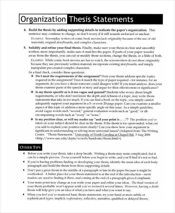 Thesis Statement Templates   11+ Free MS Word, Excel & PDF   Thesis  Statement, Statement Template, Thesis