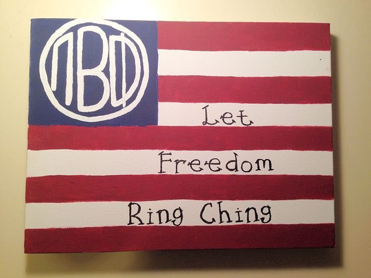 Pi Beta Phi american flag craft - Let freedom ring ching! #piphi #pibetaphi