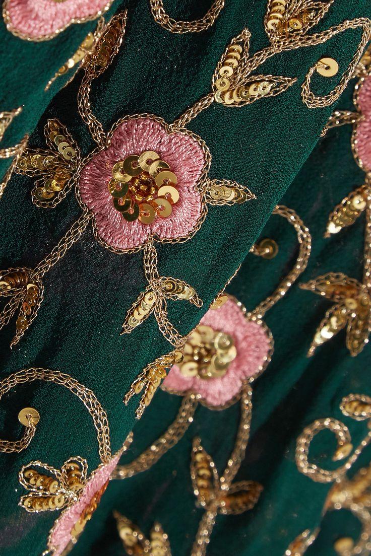 Ashish | Украшенные вышитые платья макси шелка жоржет | NET-A-PORTER.COM
