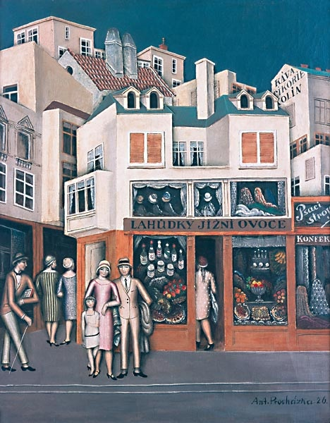Antonín Procházka - Ulice / The Street 1926, oil on canvas