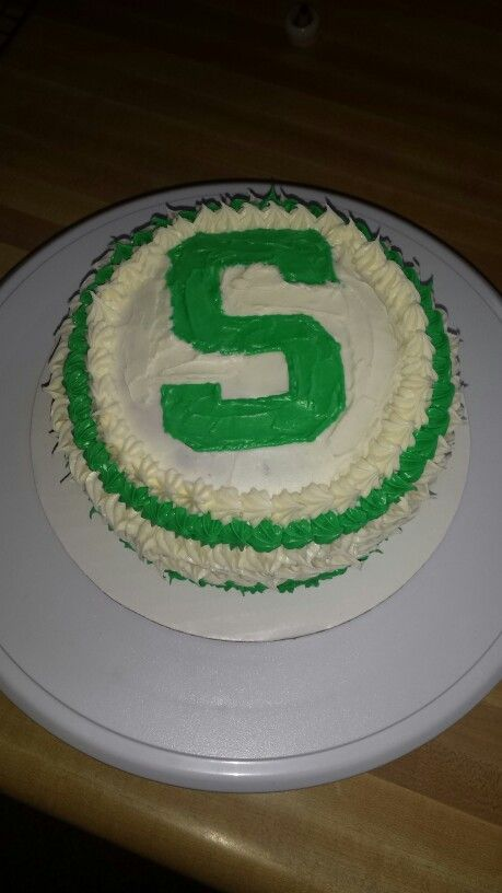 Michigan State Spartan Cake I Made For A Birthday Msu