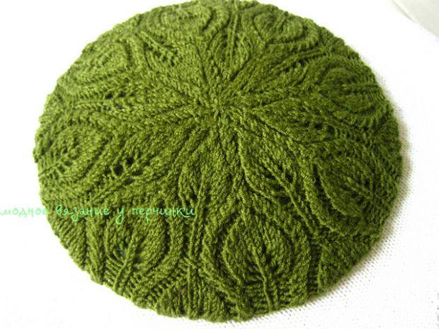 Берет листиками *Foliage Hat* - Модное вязание