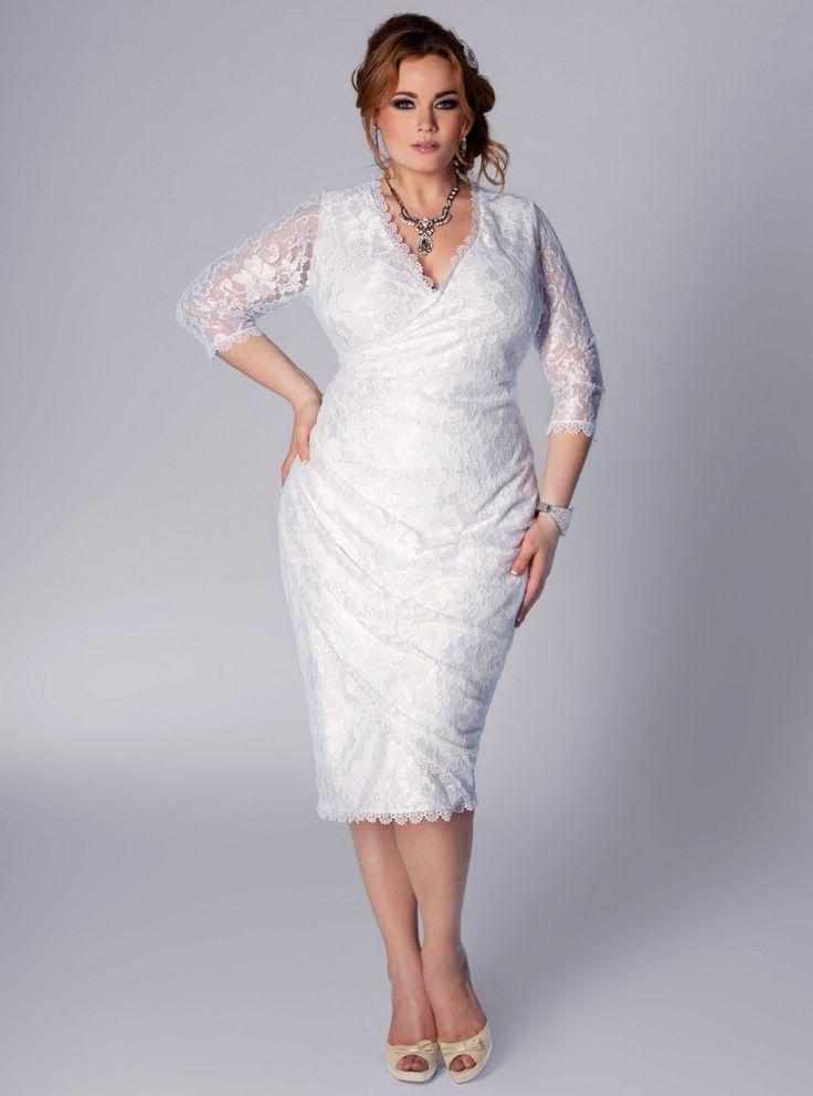 103 best Wedding dresses for older plus sized brides images on ...