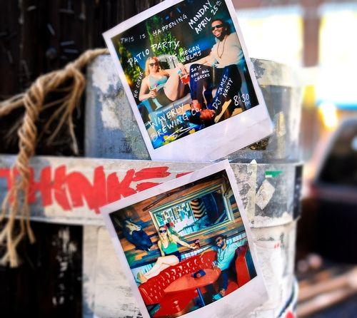 DJ Nite polaroids in Hampden #baltimore #nightlife #commercial #promo #photographer