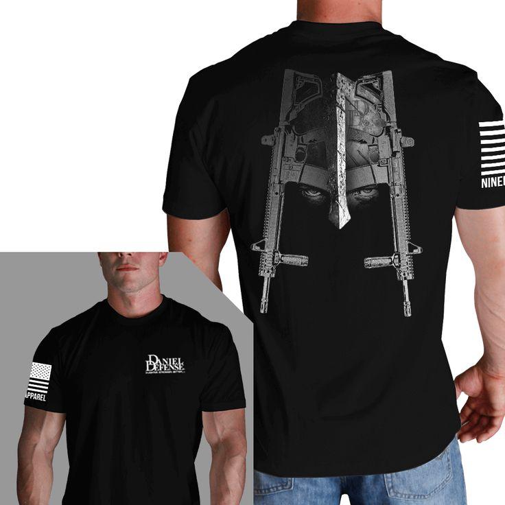 Mens T-Shirt - Daniel Defense Spartan - Black