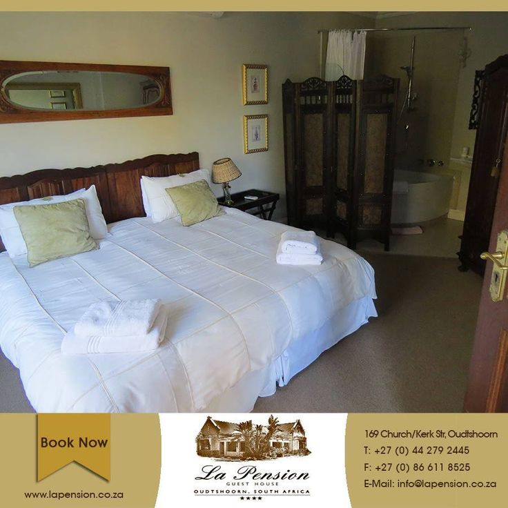 Tired of the hustle and bustle of the city? Take some time off and come enjoy 4 star accommodation at La Pension Guesthouse. Call us today on 044 279 2445 to book your #accommodation. #oudtshoorn