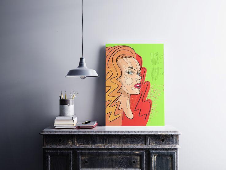 Orange Girl conceptual fashion style portrait on Behance