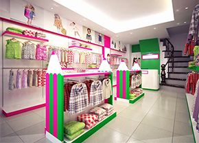 Kids clothing store racks and shelves for sale,baby shop furniture design and manufacture