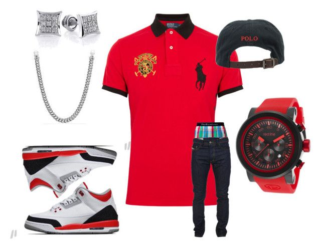 """""""Untitled #7"""" by crenshaw-m4fia ❤ liked on Polyvore featuring Polo Ralph Lauren, red line, David Yurman and Diesel"""
