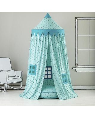 Study or reading time is WAY more fun when it's done inside a bright fabric canopy playhouse! Click above to buy one.