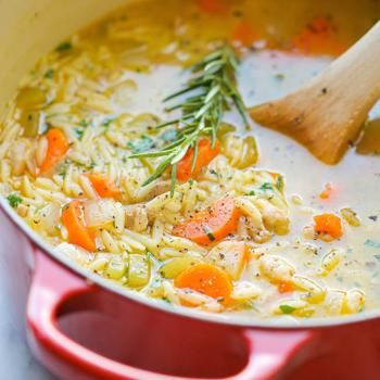 Lemon Chicken Orzo Soup Made this tonight! Yummy and great for our colds-SS