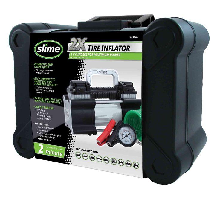 Amazon.com: Slime 40026 2X Heavy Duty Direct Drive Tire Inflator: Automotive | @giftryapp