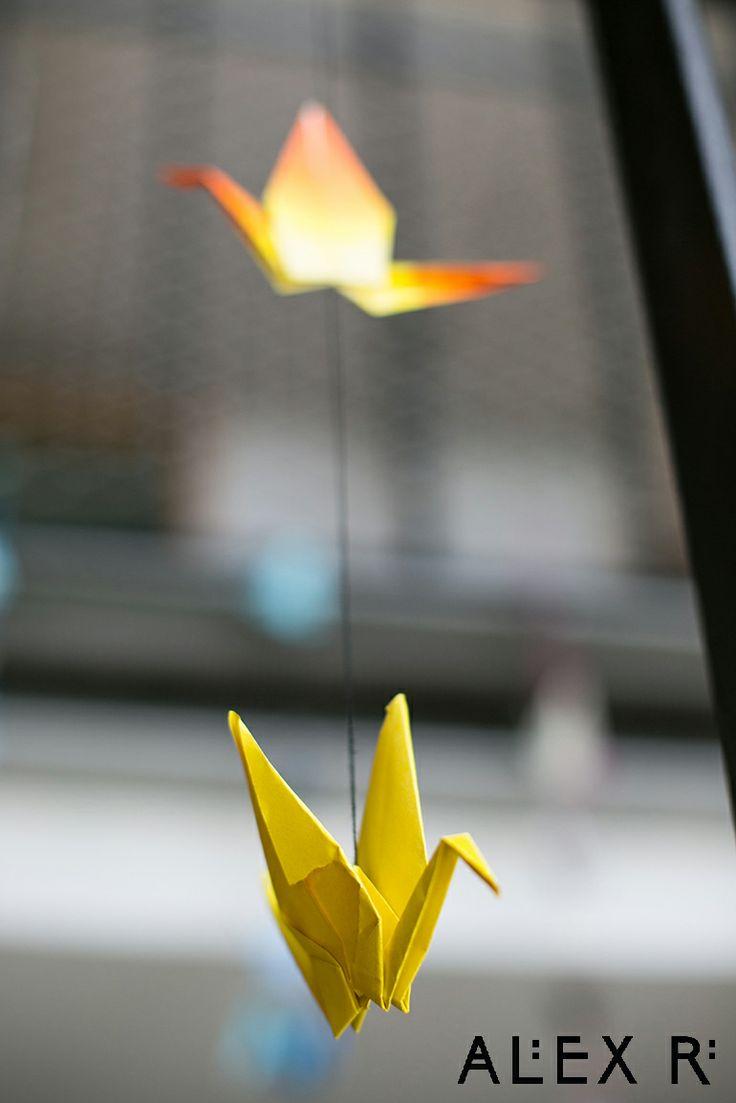 Origami crane for weddding ceremony