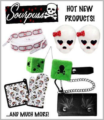 Great products from Sourpuss available online now!