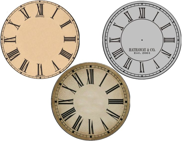 images of clock faces for modge podge to old cds.