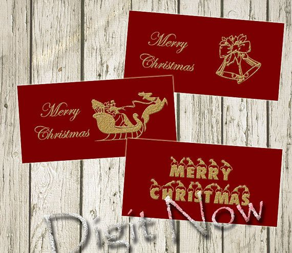 Merry Christmas Greeting Card Journaling Card. Printable, Instant download