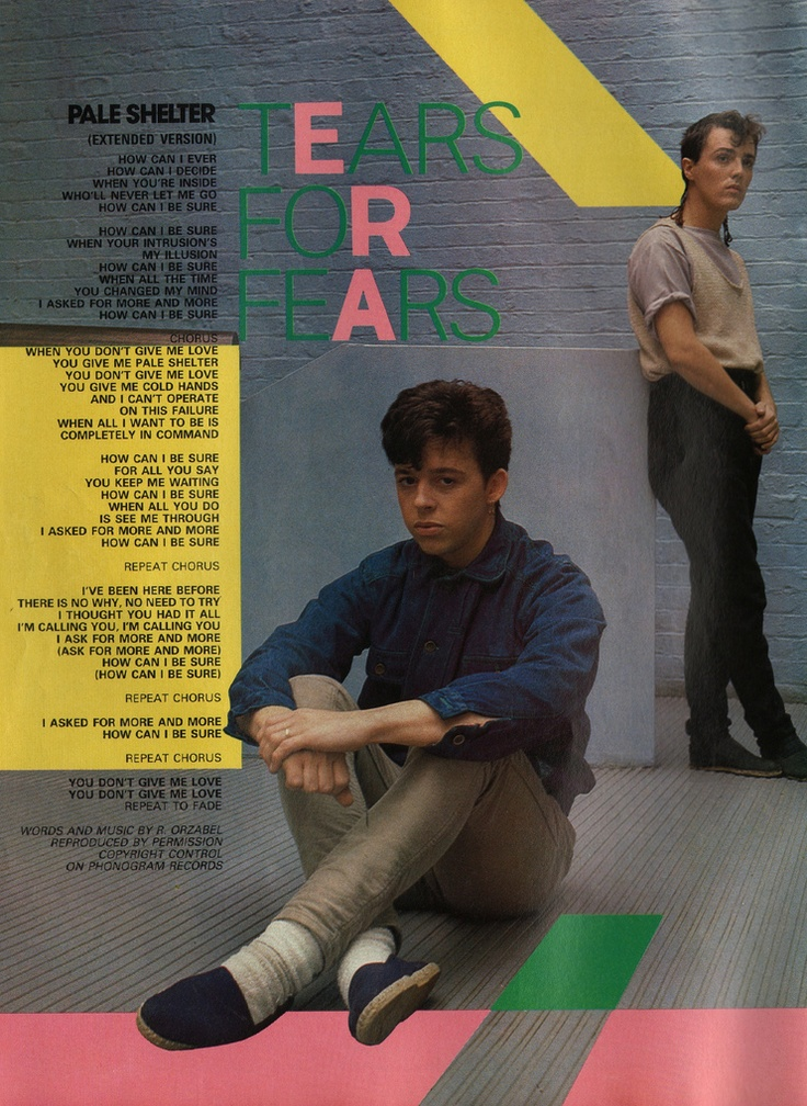 Tears for Fears, Pale Shelter, 1982, 1983 re-release