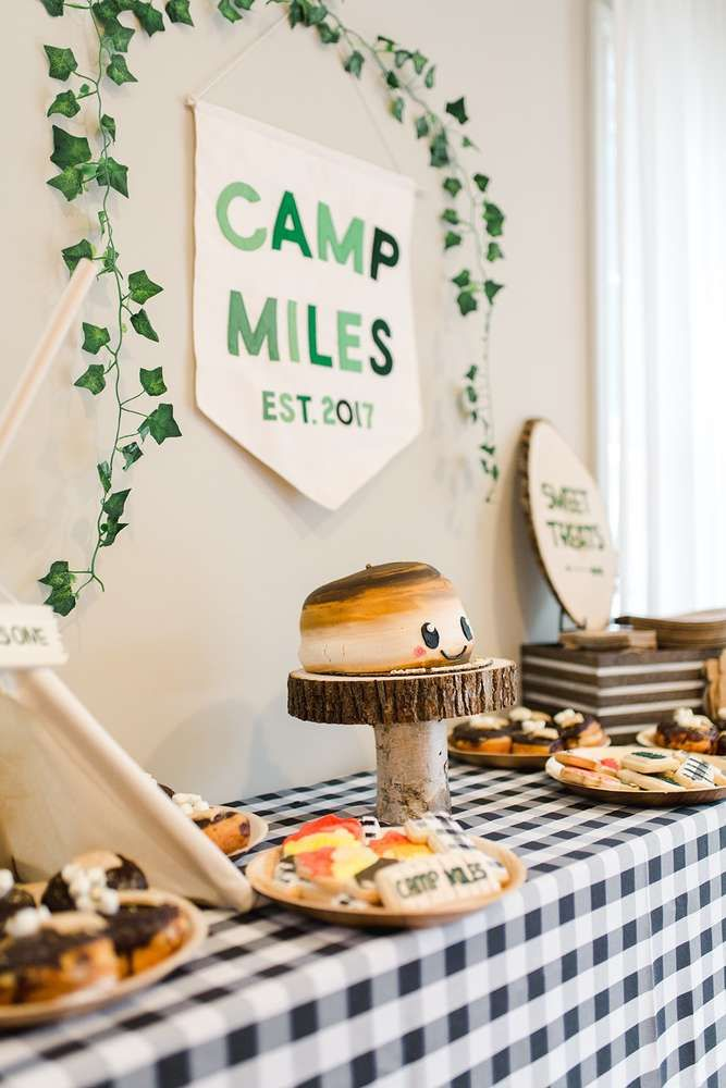 Dont Miss This Incredible Camping Summer Camp 1st Birthday Party See More Ideas And Share Yours At CatchMyParty Catchmyparty Partyideas