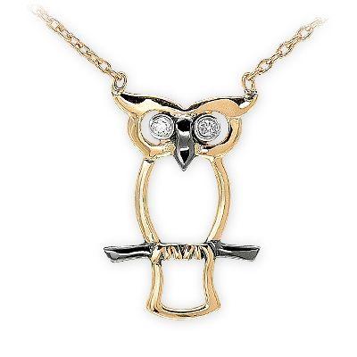 altın kolye, pırlanta kolye, 14 ayar, baykuş kolye, kuş kolye, doğa, sembol kolye, elmas