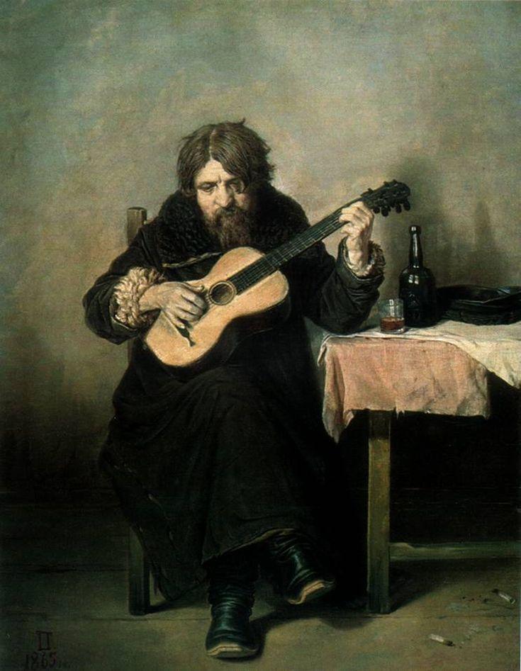 "Vasily Perov - ""Guitarist-bach"""