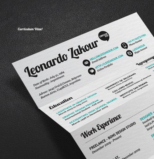 Great Resume Designs That Catch Attention And Got People Hired  Acceptable Resume Fonts