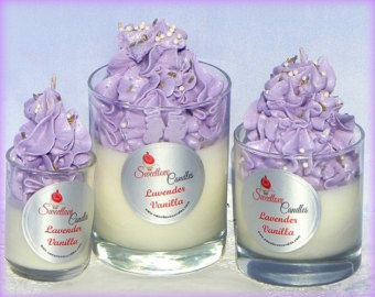Lavender Vanilla Luxury Soy Cupcake Candle