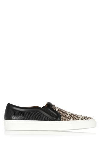Skate shoes in python and mangrove snake with leather trim #slipons #offduty #covetme #givenchy