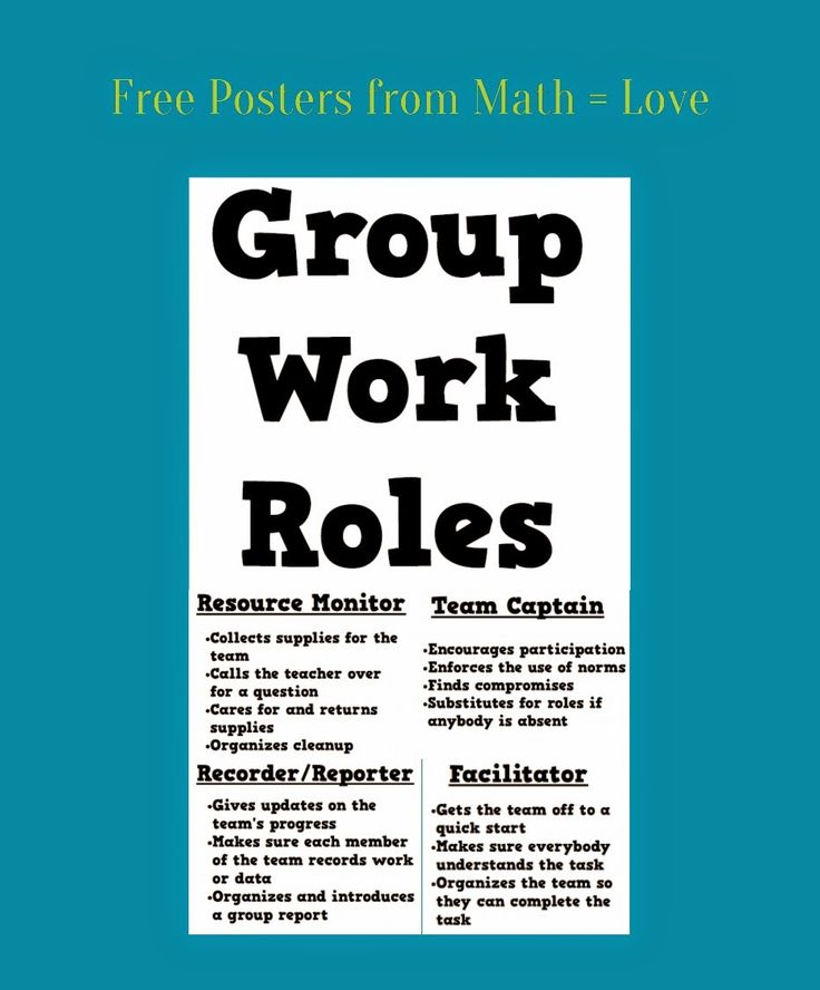 Collaborative Math Classroom ~ Best images about science group roles on pinterest