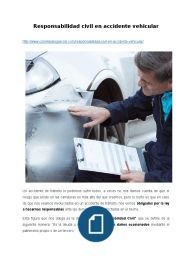 Responsabilidad civil en accidente vehicular