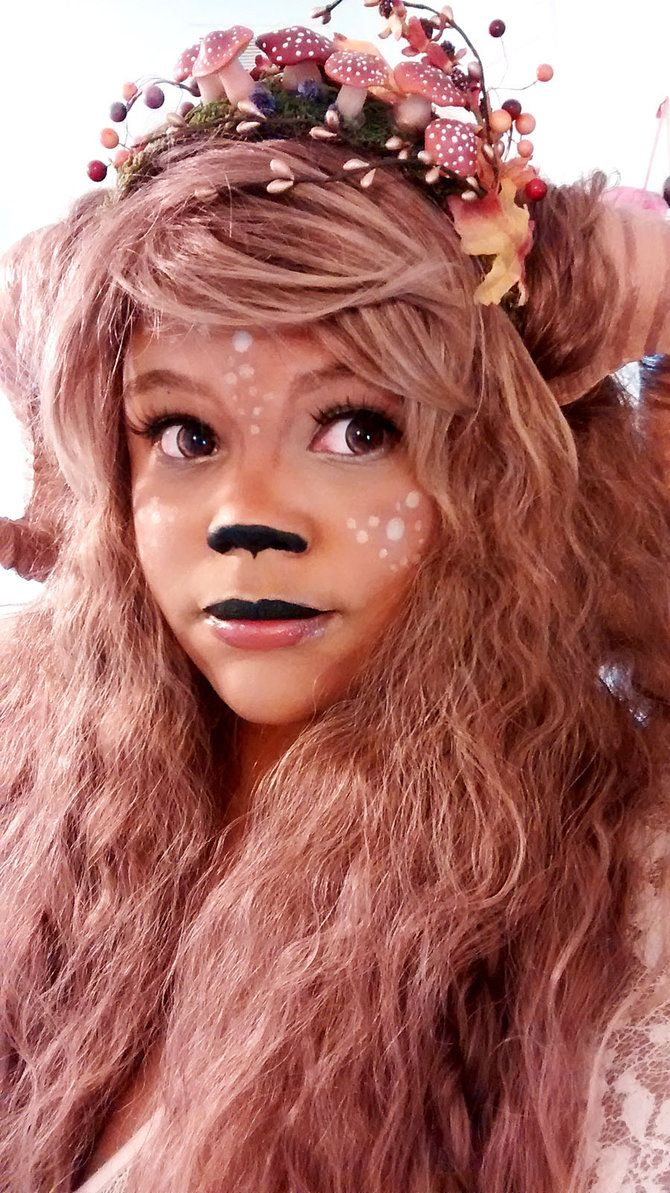 Faun Makeup Test by sparkfairy on DeviantArt - I love the toadstools in the crown.