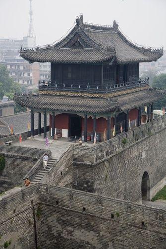Ancient walled city of Jingzhou, Hubei Province. China