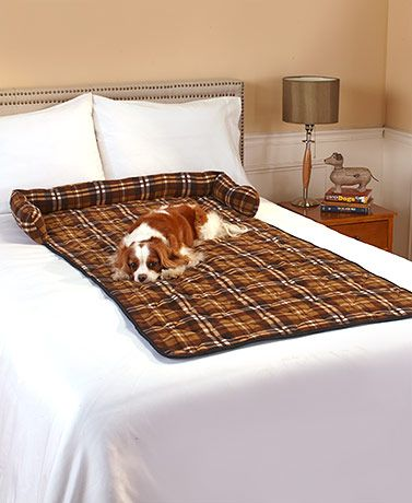 Protect your furniture with this Plaid Bolstered Pet Couch Cover. Spread it out…
