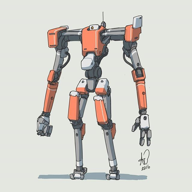 202 2016 I found another one just standing around... #mech #mecha #robot…