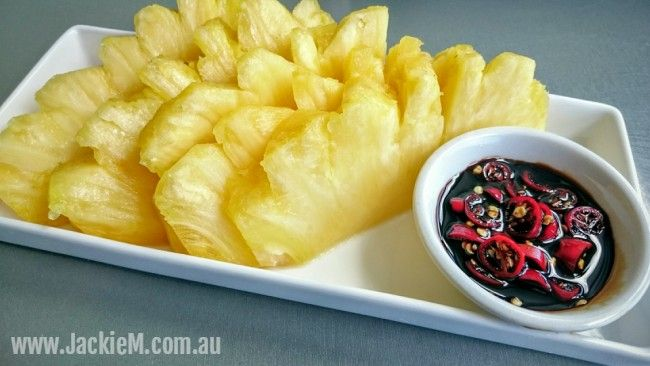 How to Cut and Serve Pineapple - Asian-style - Jackie M