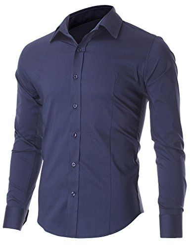 FLATSEVEN Men's Slim Fit Casual Button Down Dress Shirt Long Sleeve (SH600) Navy, XL FLATSEVEN http://www.amazon.com/dp/B00OWXYHBO/ref=cm_sw_r_pi_dp_kgj1ub1CGZZ0V