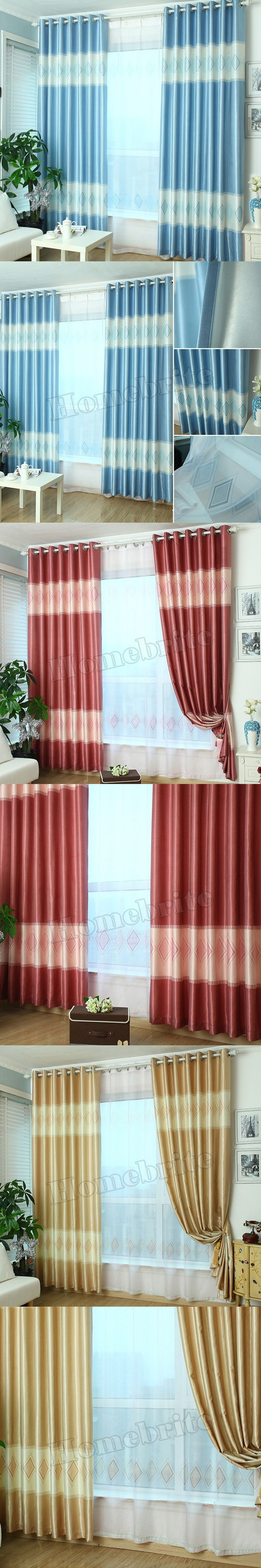 Simplife Tulle Window Mediterranean Curtain Luxury Plaid Blackout Drape for Living Room Bedroom Decoration Free Shipping CL255 $20.27