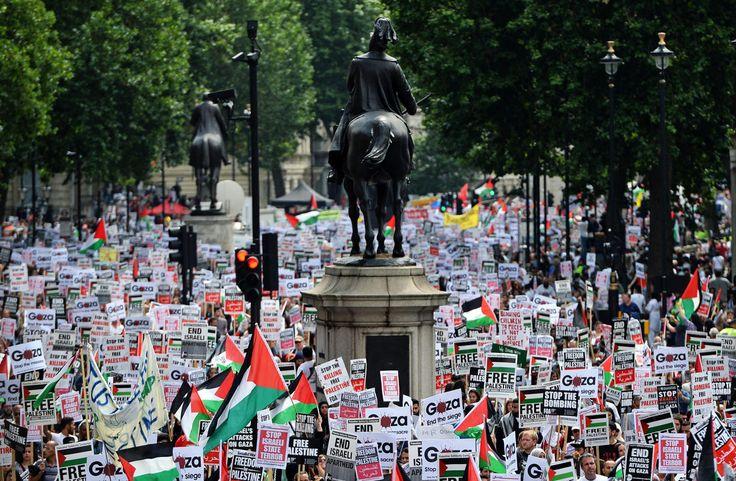ENGLAND Gaza protest July 2014