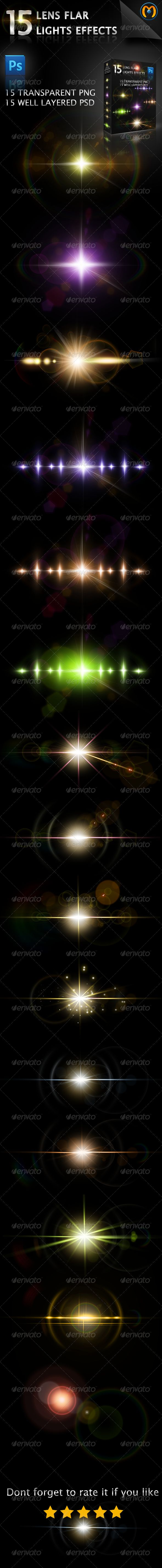 15 Lens Flares V.1 - #Decorative Graphics Download here:  https://graphicriver.net/item/15-lens-flares-v1/5330487?ref=alena994