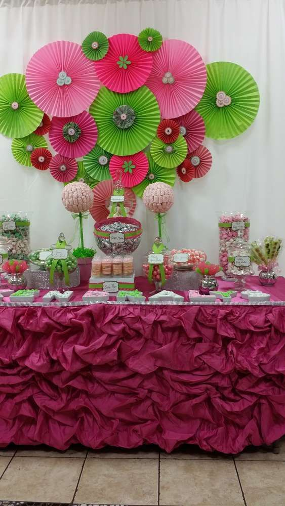 Pink and green Baby Shower Party Ideas | Photo 4 of 8 | Catch My Party